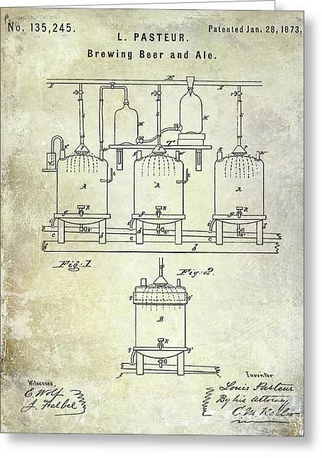 1873 Beer Patent Greeting Card