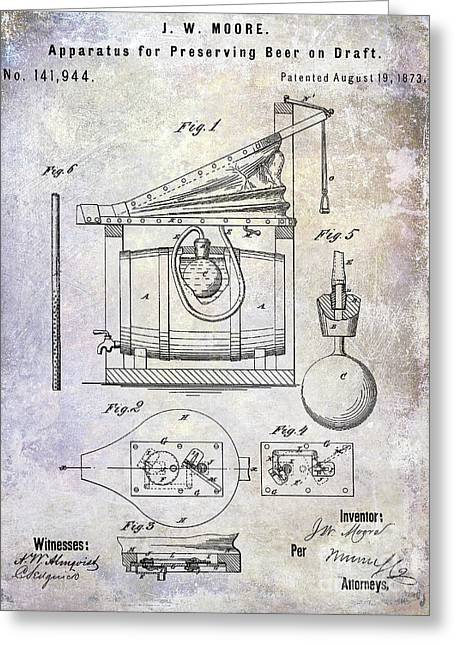 1873 Draft Beer Patent Greeting Card