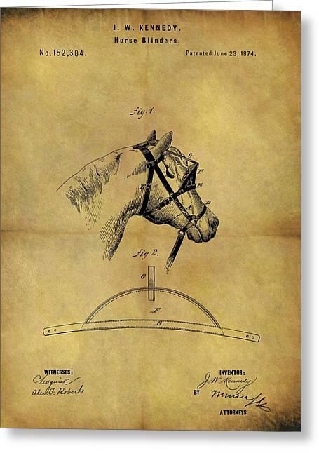 1874 Horse Blinder Patent Greeting Card