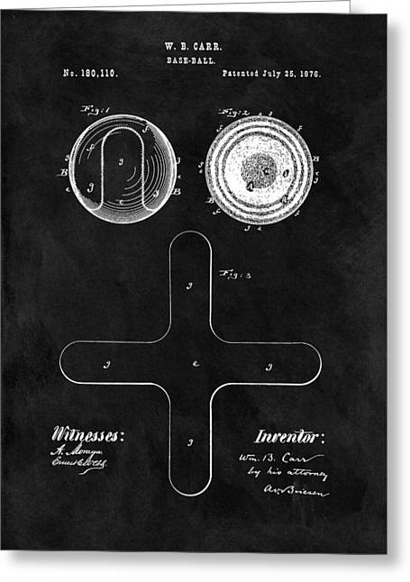 1876 Baseball Patent Illustration Greeting Card by Dan Sproul