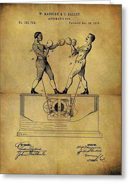 1876 Boxing Toy Patent Greeting Card by Dan Sproul