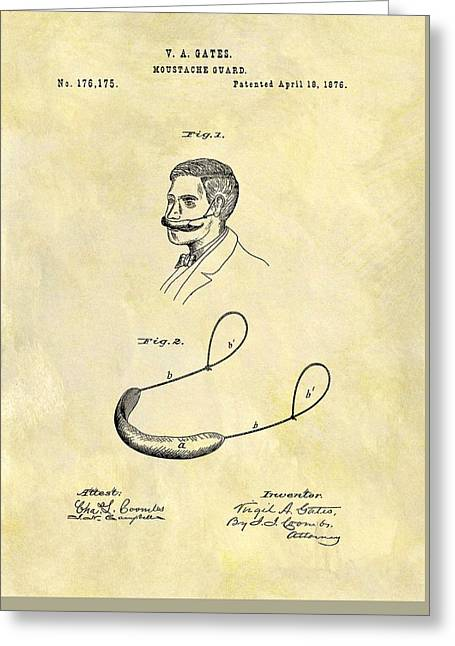 1876 Mustache Guard Patent Greeting Card by Dan Sproul