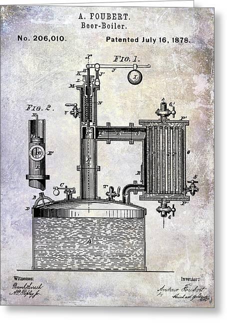 1878 Beer Boiler Patent Greeting Card