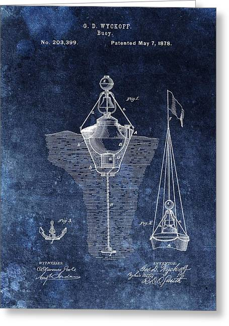 1878 Buoy Patent Greeting Card