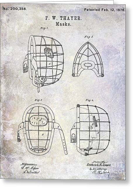 1878 Catchers Mask Patent Greeting Card