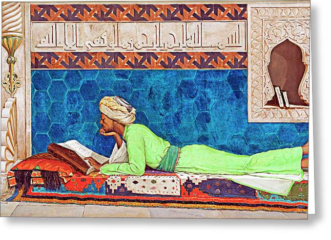 1878 Orient Painting Greeting Card by Munir Alawi