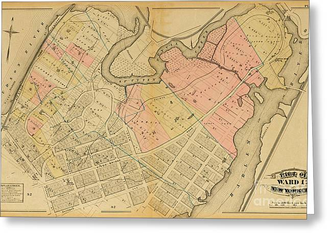 1879 Inwood Map  Greeting Card