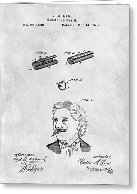 1879 Mustache Guard Patent Greeting Card by Dan Sproul