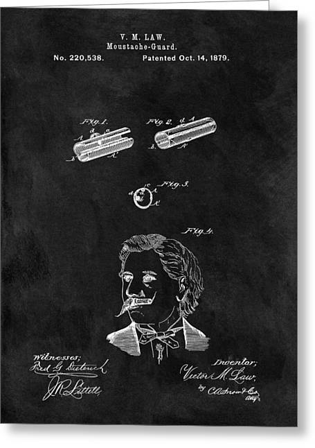 1879 Mustache Patent Greeting Card by Dan Sproul