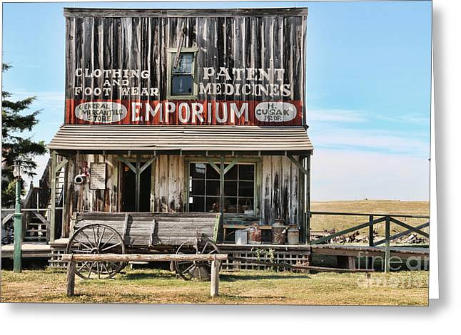 1880 Town General Store  8374 Greeting Card