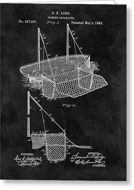 1882 Fishnet Patent Greeting Card