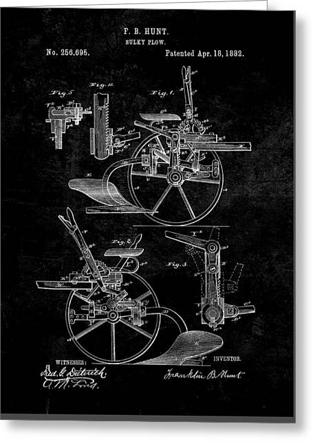 1882 Sulky Plow Patent Greeting Card
