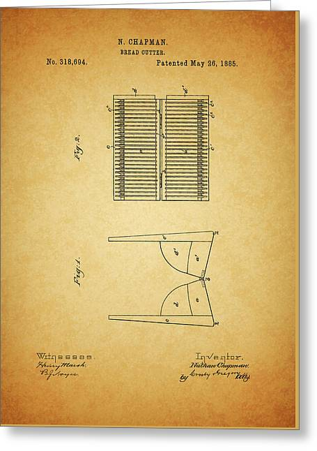 1885 Bread Slicer Patent Greeting Card
