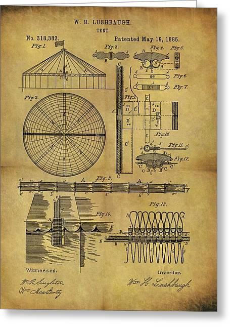 1885 Circus Tent Greeting Card by Dan Sproul