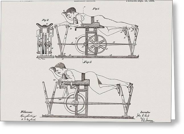 1885 Exercise Apparatus Illustration Greeting Card by Dan Sproul
