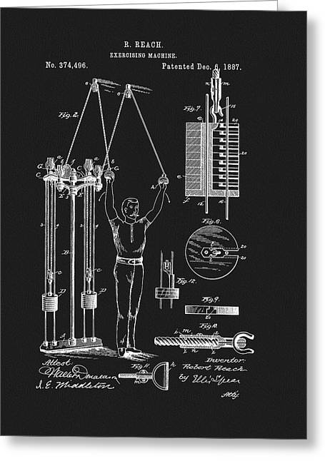 1887 Exercise Apparatus Patent Greeting Card
