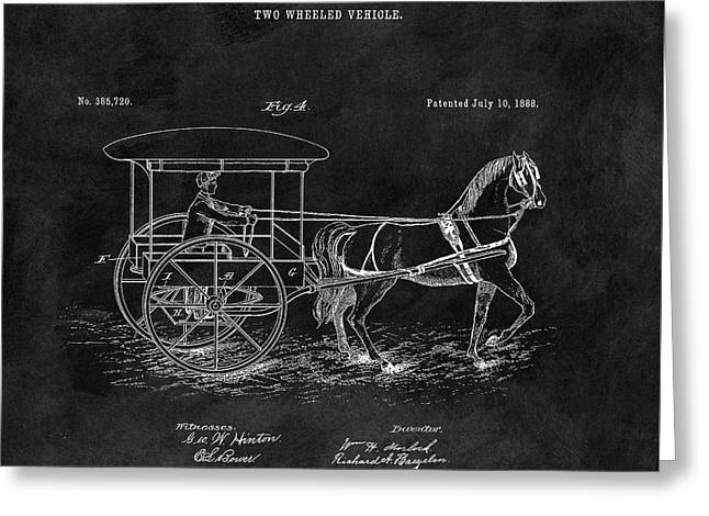 1888 Horse Drawn Carriage Greeting Card