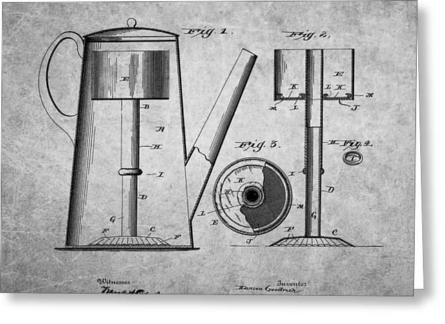 1889 Coffee Pot Patent Greeting Card