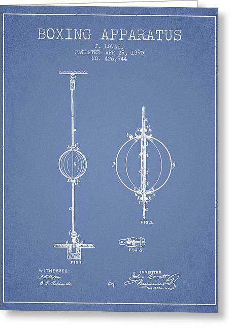 1890 Boxing Apparatus Patent Spbx17_lb Greeting Card by Aged Pixel