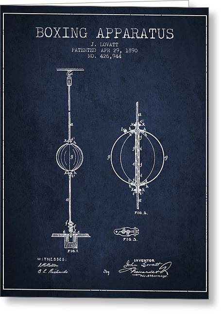 1890 Boxing Apparatus Patent Spbx17_nb Greeting Card by Aged Pixel
