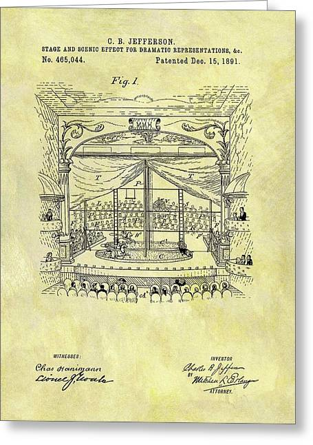1891 Entertainment Stage Patent Greeting Card by Dan Sproul