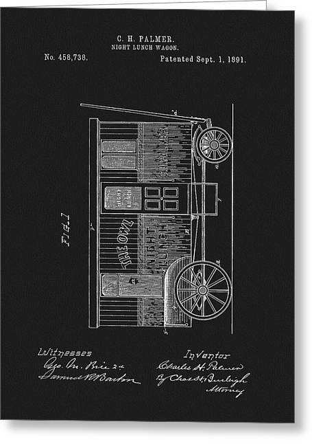 1891 Night Lunch Wagon Patent Greeting Card