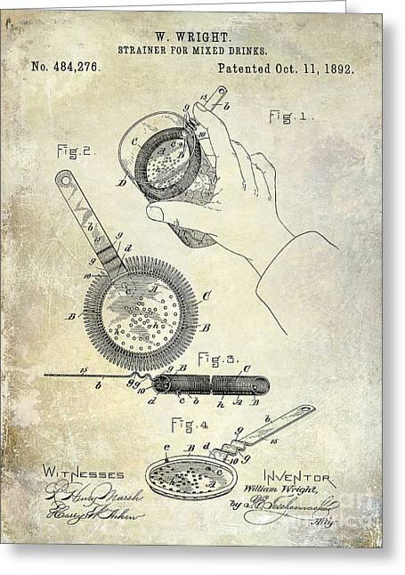 1892 Cocktail Mixer Greeting Card