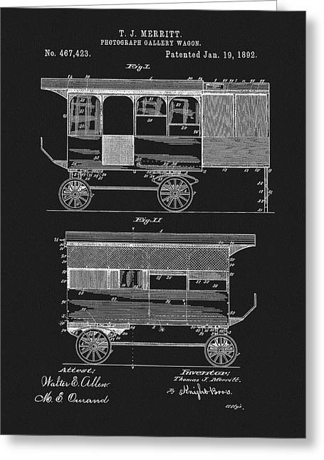 1892 Photography Wagon Patent Greeting Card