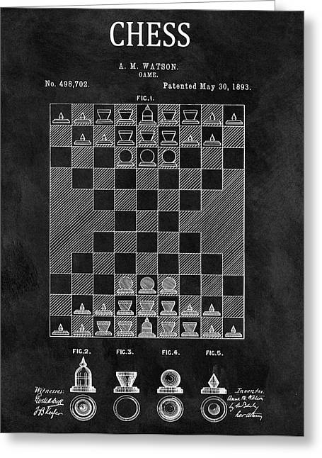 1893 Strategy Game Chess Patent Greeting Card by Dan Sproul