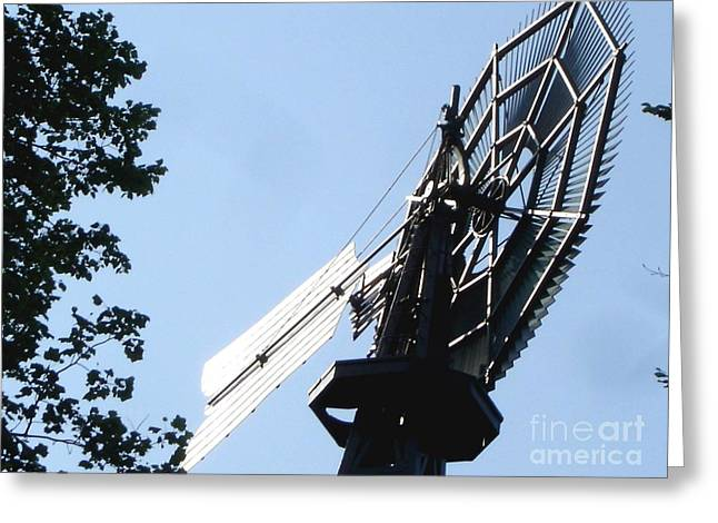 Greeting Card featuring the photograph 1894 Bronson Windmill Gears by Margie Avellino