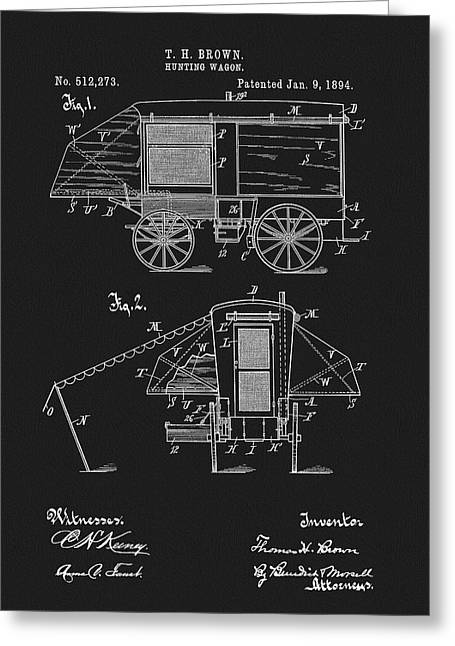 1894 Hunting Wagon Patent Greeting Card