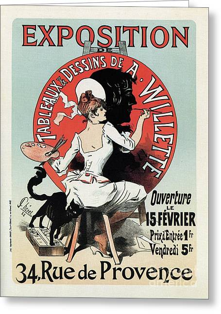 1894 Paris Art Exposition Willette Greeting Card by Aapshop