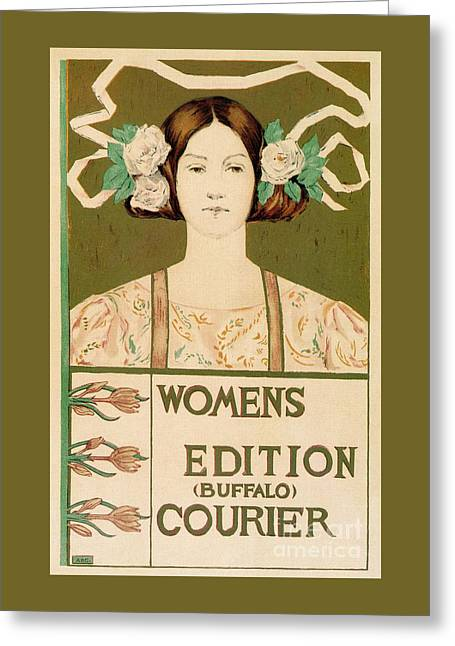 1895 Buffalo Courier For Women Greeting Card
