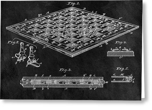 1896 Chessboard Patent Greeting Card by Dan Sproul