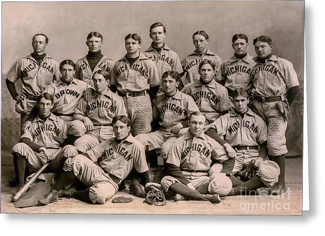 1896 Michigan Baseball Team Greeting Card