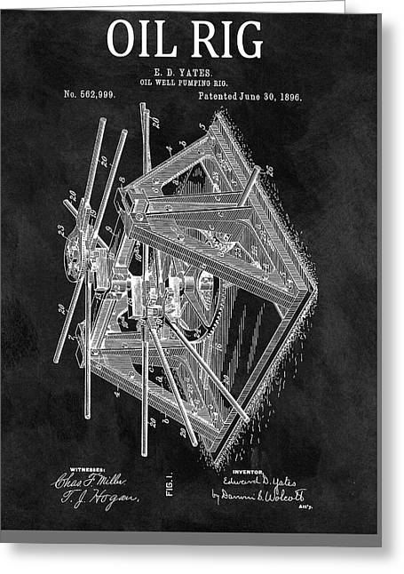 1896 Oil Rig Patent Greeting Card