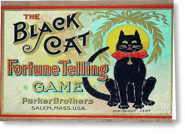 1897 Black Cat Fortune Telling Game Greeting Card