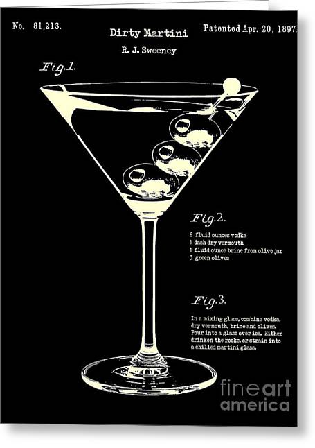 1897 Dirty Martini Patent Greeting Card by Jon Neidert