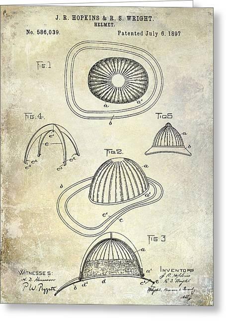 1897 Firemans Hemet Patent Greeting Card by Jon Neidert