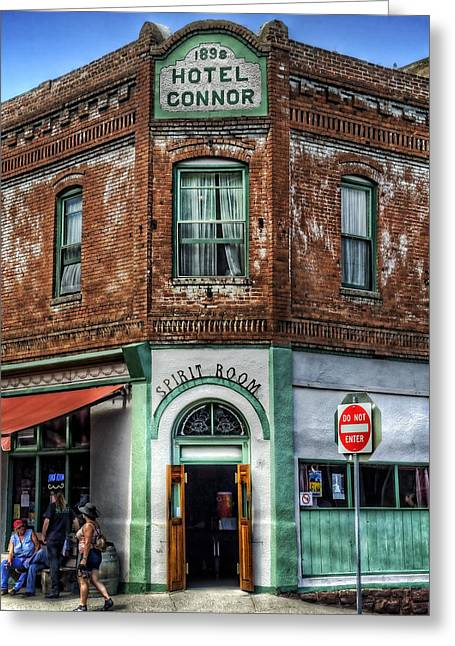 1898 Hotel Connor - Jerome Arizona Greeting Card