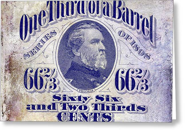 1898 One Third Beer Barrel Tax Stamp Greeting Card by Jon Neidert