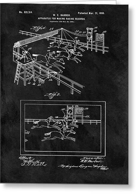 1899 Horse Track Patent Greeting Card by Dan Sproul