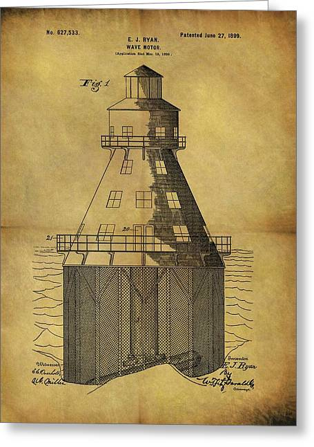 1899 Wave Motor Patent Greeting Card