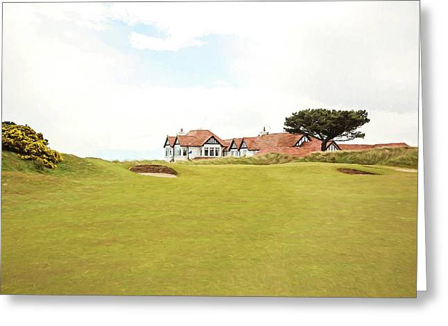 18th At Portmarnock Greeting Card by Scott Pellegrin