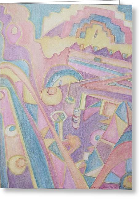 18th Century Greek Church Abstract Greeting Card by Suzanne  Marie Leclair