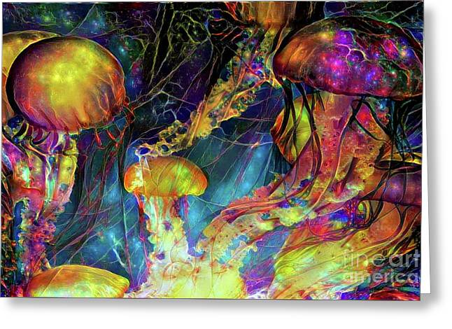Abstract Jellyfish Greeting Card by Amy Cicconi