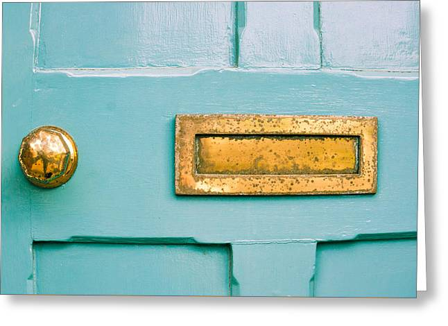 Blue Door Greeting Card by Tom Gowanlock