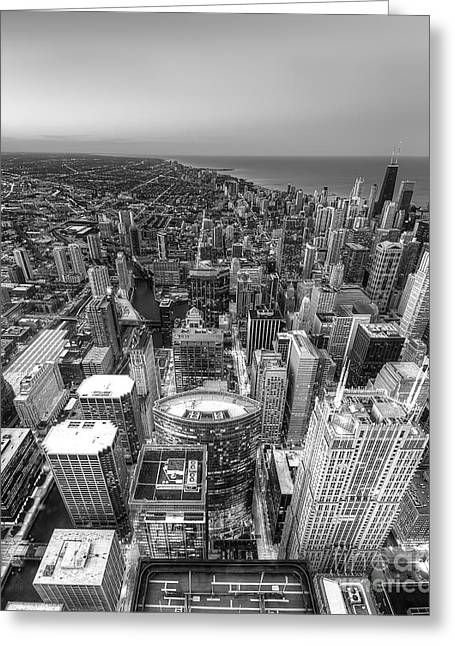 Chicago From Above Greeting Card