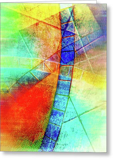 Digital Abstract Painting Greeting Card