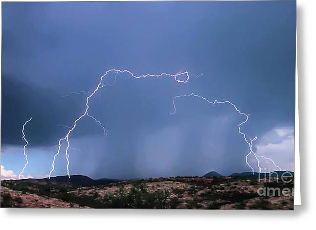 Lightning Greeting Card